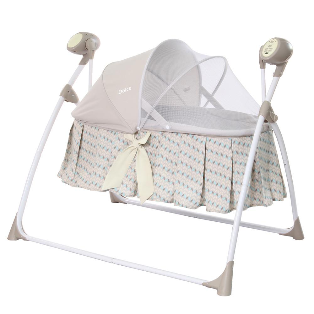 Гойдалки-люлька з подушкою і пультом управління CARRELLO Dolce CRL-7501 Arrow Beige