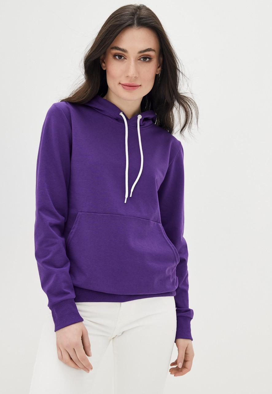 Худи женский с капюшоном, цвет фиолетовый