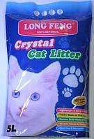 Силикогелевый наполнитель для котов 5 л Long Feng Crystal Cat Litter Кристал силикагелевый