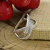 Серебряное кольцо Сатурн гламурный вставка белые фианиты вес 2.9 г размер 20, фото 5