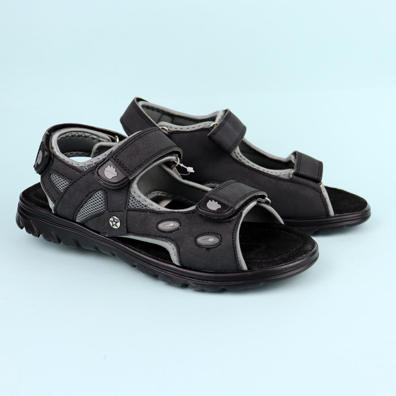 Черные подростковые босоножки сандалии на мальчика подростка тм Томм р.36,37,38,39,41