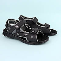 Черные подростковые босоножки сандалии на мальчика подростка тм Томм р.36,37,38,39,41, фото 1