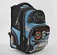 Рюкзак детский школьный Танк С 43546 с 3 карманами,с ортопедической спинкой и принтом, фото 2