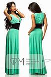 Нарядное платье макси с широким поясом на резинке,выгодно подчеркнет талию,5цвета,  р-р.42-46 код 191Д, фото 6