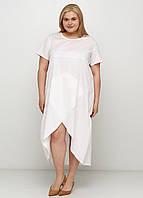 Айвори платье а-силуэт Made in Italy однотонное, 50-52 р.