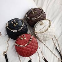 Круглая женская сумочка клатч, фото 1