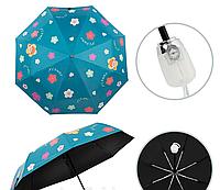 Женский стильный складной зонт автомат (принт)