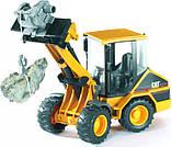 Bruder Игрушка машинка дорожный погрузчик CAT, 02441, фото 6