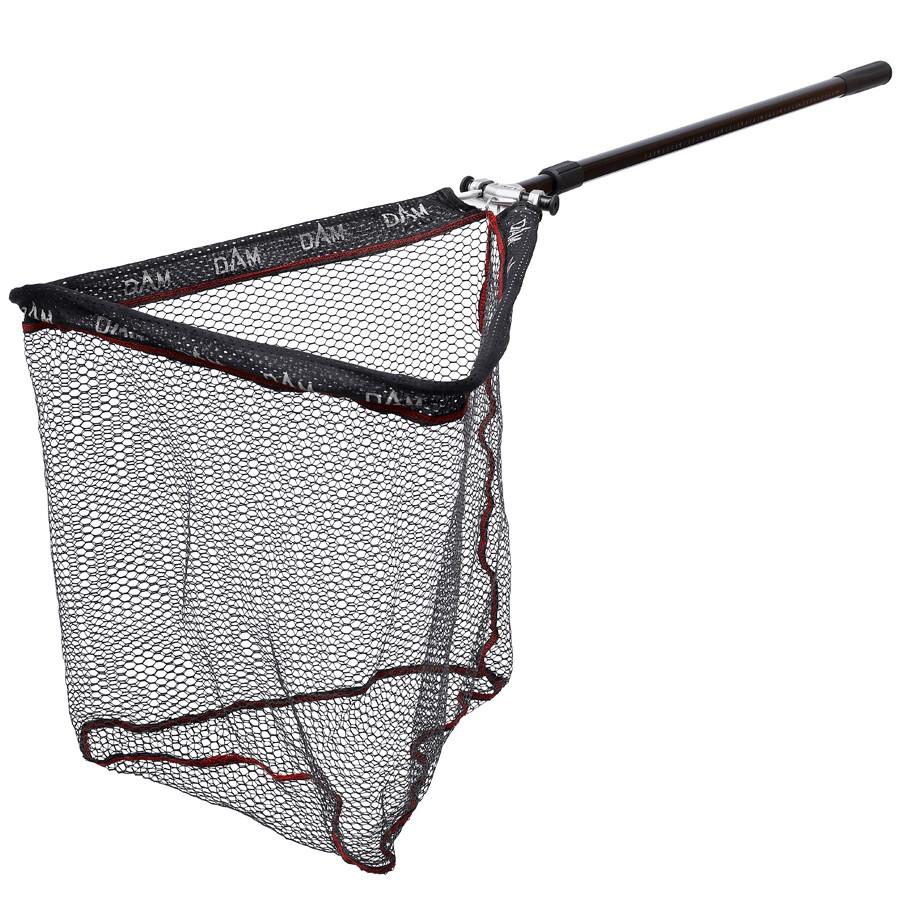 Подсак раскладной DAM Baerenstark с прорезиненной сеткой 2.40м  голова 60см х 60см