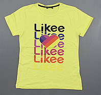{есть:146} Футболка Likee для девочек,  Артикул: 7982-жёлтый [146]