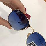 Окуляри сонцезахисні брендові під Ray Ban чорні недорогі копії, фото 5