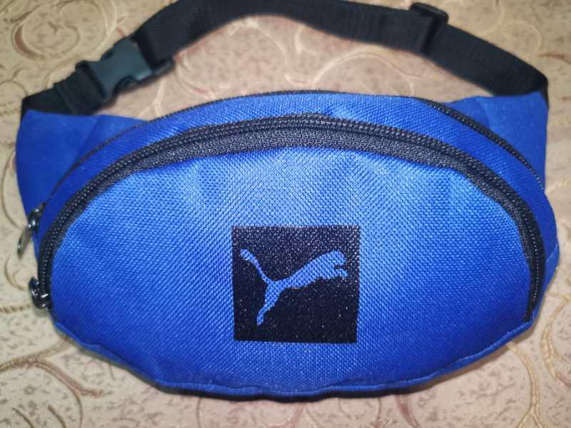(13*28)Детская сумка на пояс PUMA электрик Оксфорд ткань спортивные барсетки Девочка и мальчик опт