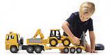 Bruder Игрушка машинка тягач MAN с экскаватором, 02776, фото 2