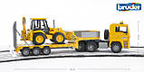 Bruder Игрушка машинка тягач MAN с экскаватором, 02776, фото 4