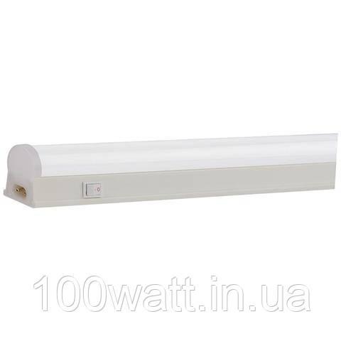 Світильник світлодіодний лінійний LED Т5 10W 6400К з вимикачем 856мм