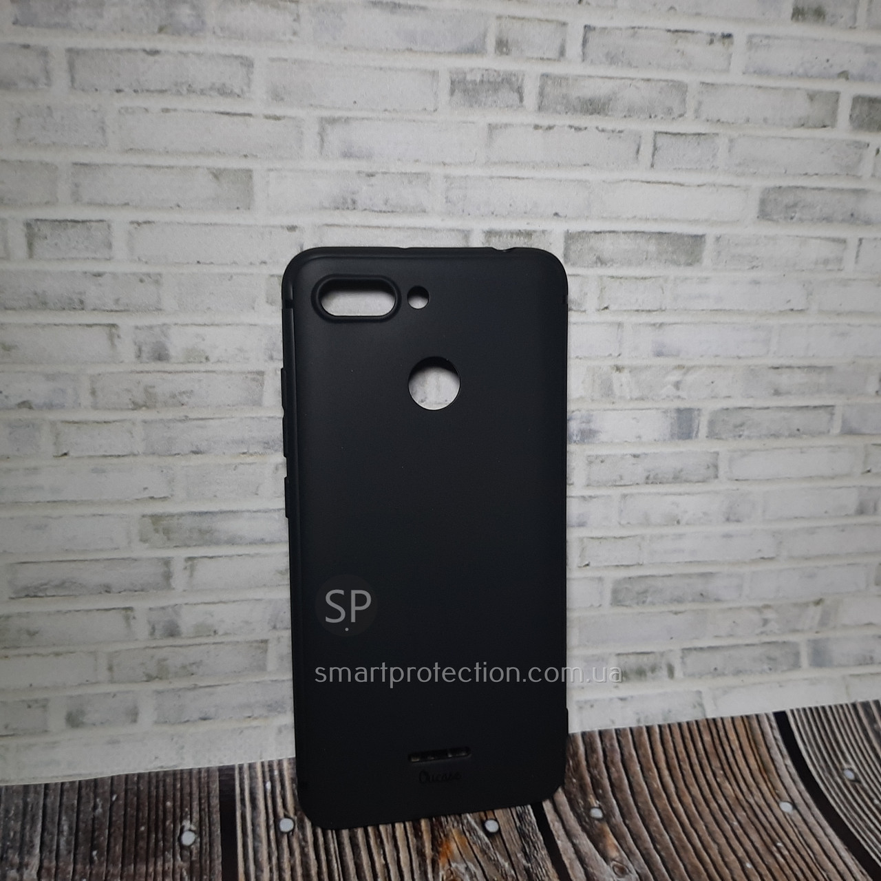 Силиконовый чехол накладка для Xiaomi Redmi 6 черный  Aspor OuCase