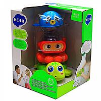Детский набор игрушек для ванной Hola 17х17х23, от 9 мес, (3112)