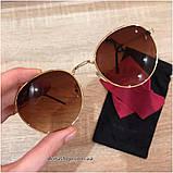 Очки солнцезащитные брендовые под Ray Ban коричневые недорогие копии, фото 2