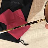 Очки солнцезащитные брендовые под Ray Ban коричневые недорогие копии, фото 4