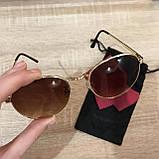 Очки солнцезащитные брендовые под Ray Ban коричневые недорогие копии, фото 6