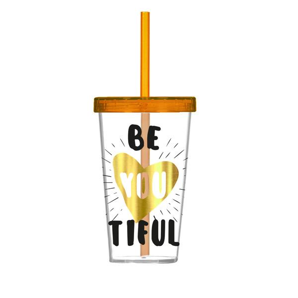Склянка для води/соку HEREVIN GOLD BE YOU 0.66 л (арт. 161448-008)