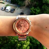 Женские часы Женева розовые, фото 1