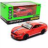 Машинка игровая автопром «Ford Sheldy GT350» 14 см, свет, звук, Красный (68441)