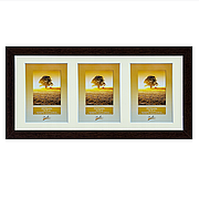 Рамка для 3 фотографий 13х18 см, сосна шоколад