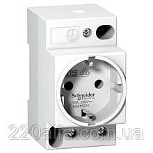 Модульная розетка с заземлением 2Р+Е 16А 250В Schneider-Electric (белая)