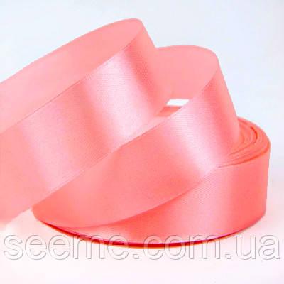 Лента атласная 25 мм, цвет лососево-розовый