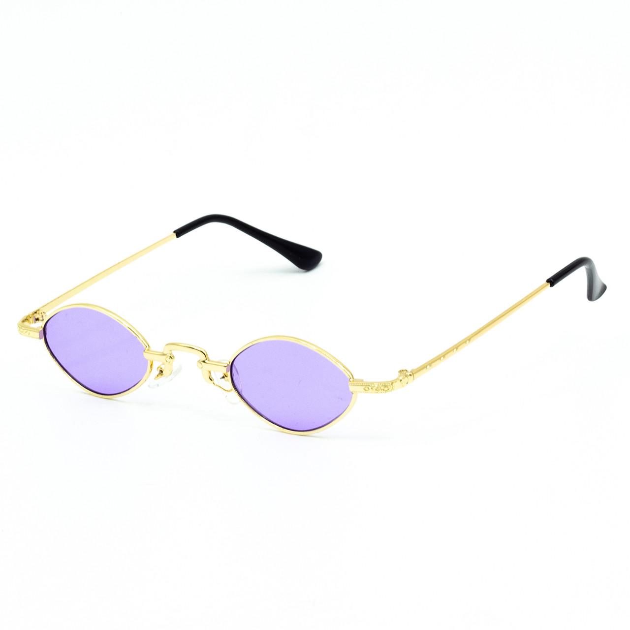 Солнцезащитные очки Marmilen 9941 C7 золотые с сиреневым    ( LE9941-07 )