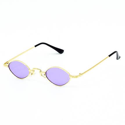 Солнцезащитные очки Marmilen 9941 C7 золотые с сиреневым    ( LE9941-07 ), фото 2
