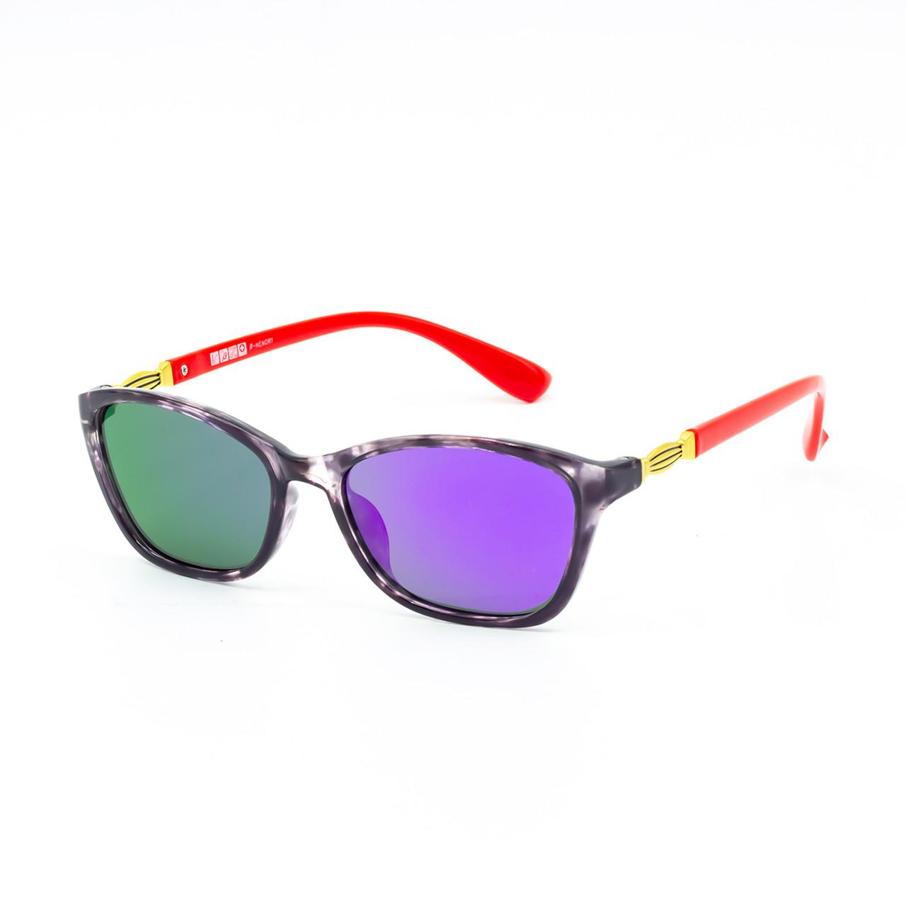 Солнцезащитные очки Marmilen 1297 C4-1 красные сзеркальным покрытием    ( 1297-04-1 )