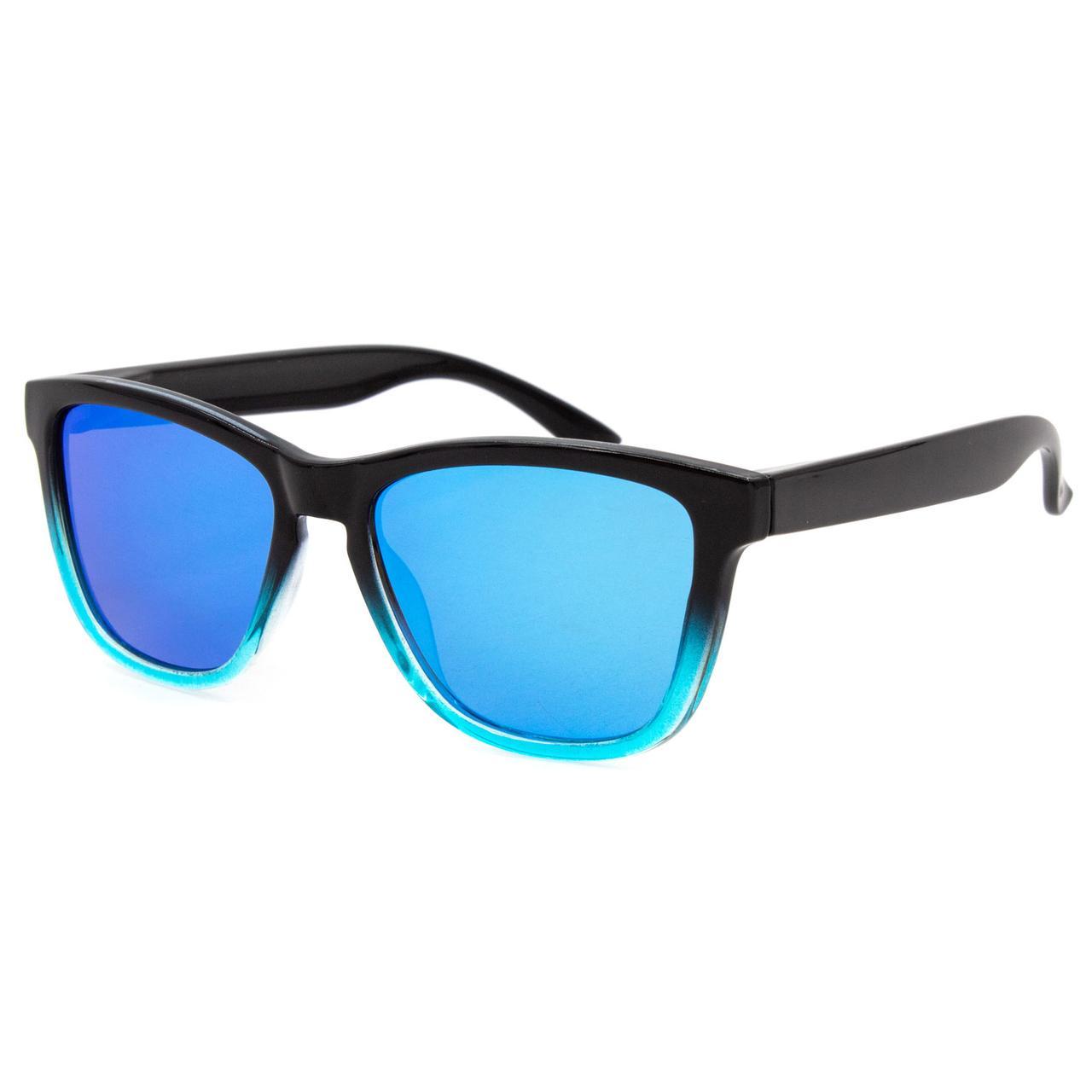 Солнцезащитные очки Marmilen Polar P0717 спорт C7 голубые с зеркальным покрытием  ( P0717-07 )