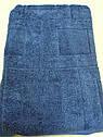 Полотенце махровое 70*140 см синее, фото 3