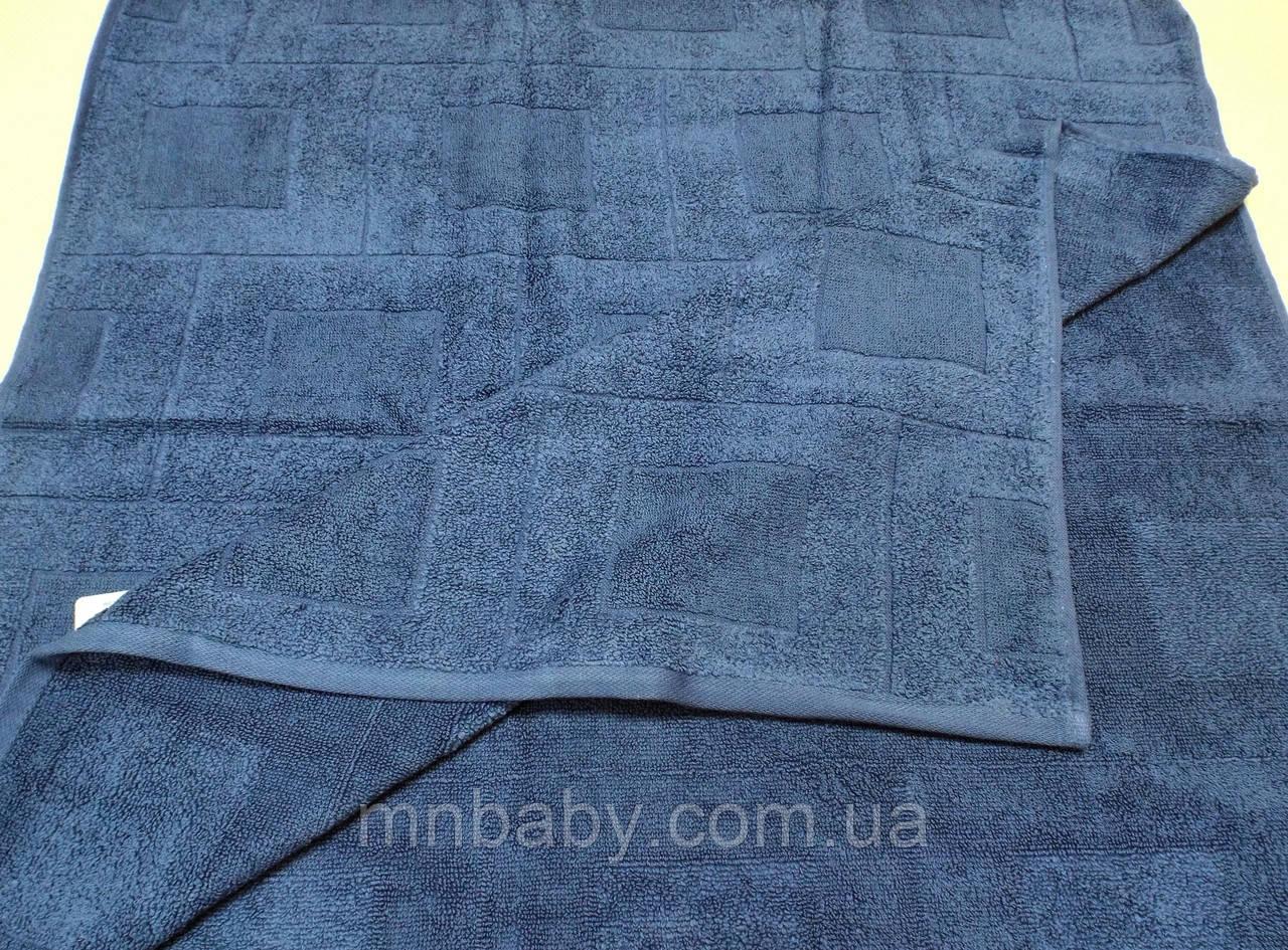 Полотенце махровое 70*140 см синее
