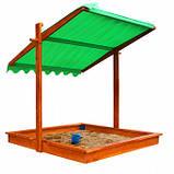 Песочница деревянная с крышкой для двора игровая 145 на 145 см., фото 6