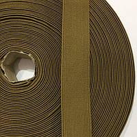 Резинка тканая мягкая 025мм цв кайот (уп 25м) 2965 Укр-б