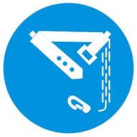 Знак «Работать в предохранительном поясе»