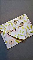 """Декоративный мини конверт """"Цветы"""""""