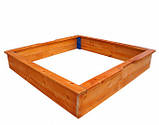 Песочница деревянная для двора игровая 145 на 145 см., фото 3
