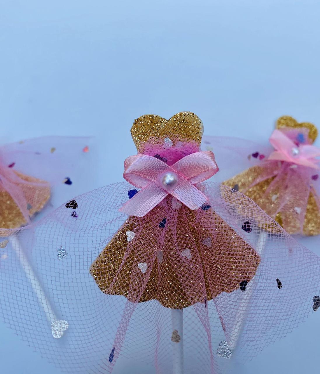 Топпер для кап-кейка платье девочки с фатиновой тканью | Топпер для девочек | Топпер для кап-кейков