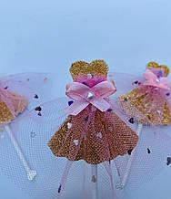 Топпер для кап-кейка дівчатка плаття з фатиновой тканиною   Топпер для дівчаток   Топпер для кап-кейків