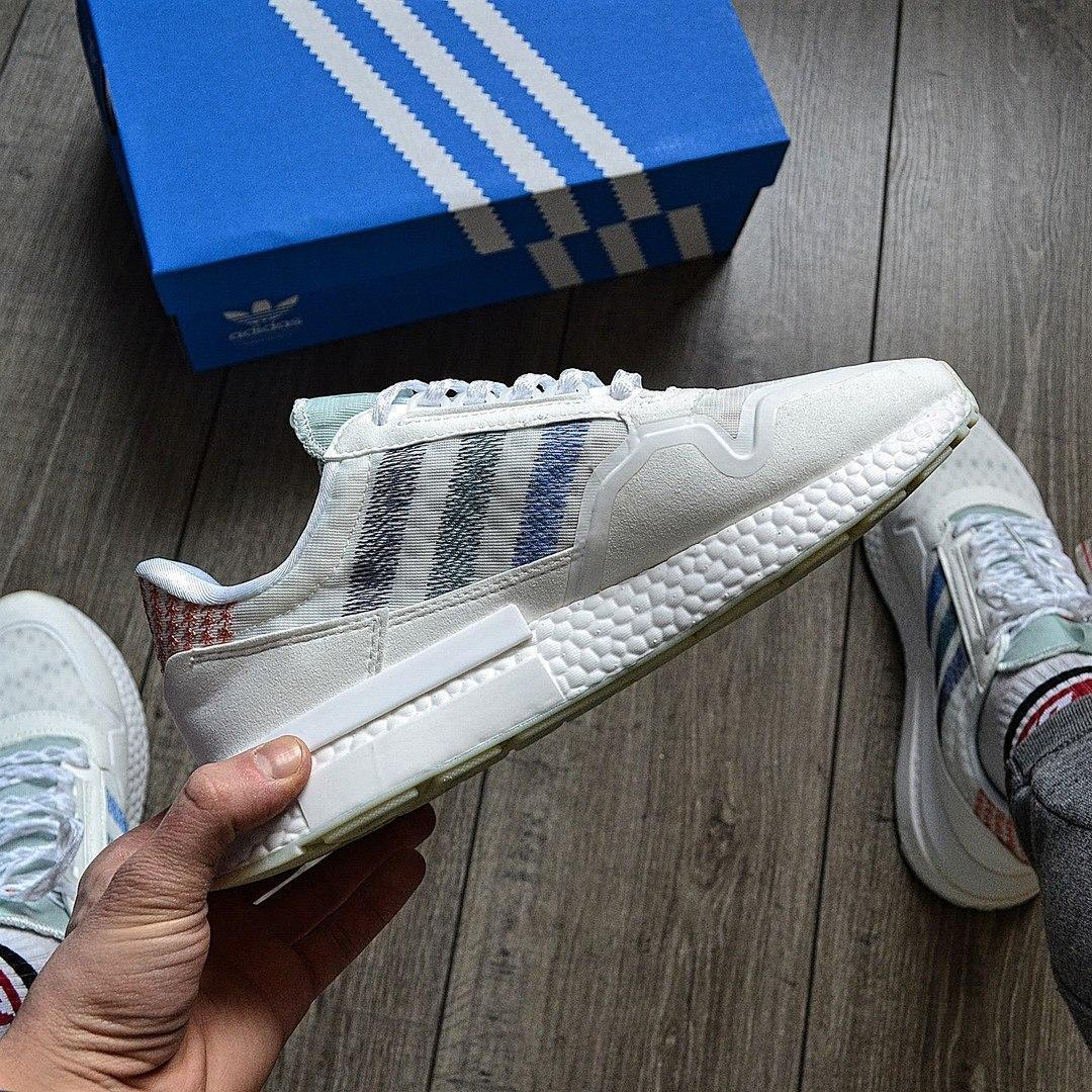 Мужские кроссовки Adidas ZX500 RM (белые) KS 1462