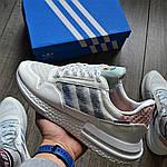Чоловічі кросівки Adidas ZX500 RM (білі) KS 1462, фото 3