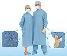 Стер.халат хирург.с непромокающ.пов. р-р ХL (52-54)