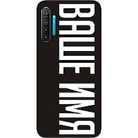 Именной чехол для Realme XT бампер с именем печать на чехле