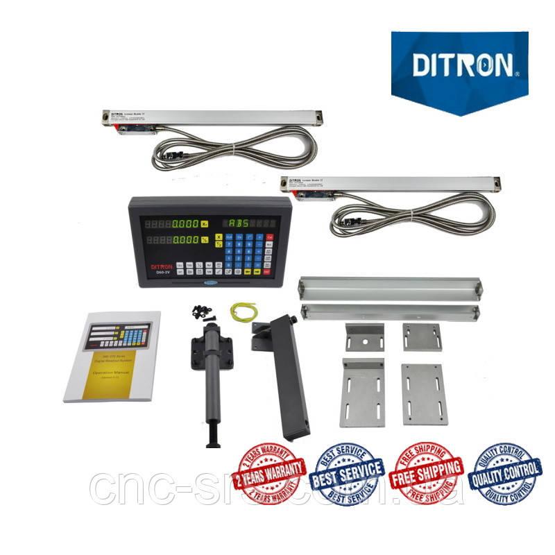 1К62, 2 оси, РМЦ 1400 мм., 5 мкм. комплект линеек и УЦИ Ditron на токарный станок