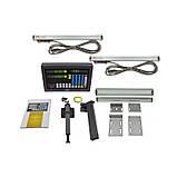 1К62, 2 оси, РМЦ 1400 мм., 5 мкм. комплект линеек и УЦИ Ditron на токарный станок, фото 3