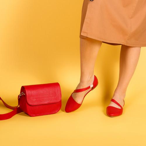 Балетки червоні шкіряні легкі, будь-яка комбінація кольору.. З 33 по 41 р. Український виробник